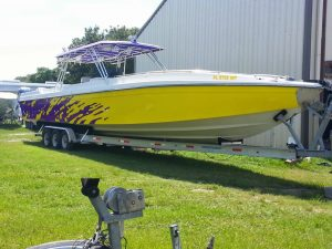 Color Change Boat Wrap
