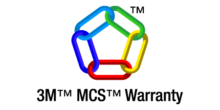Covered by the 3M MCS Warranty