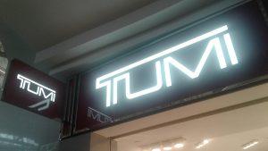TUMI Lit Storefront Sign