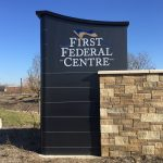 Stone & Metal Monument Sign