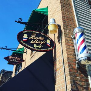 The Barber Sharp Storefront Sign