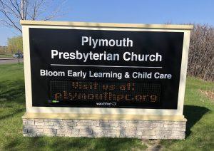 custom church message board monument sign