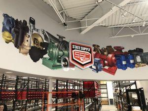 custom lobby signage and wall graphics