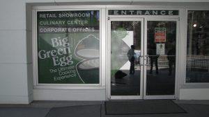 Full Window Graphics- The Big Green Egg Promotional Window Display