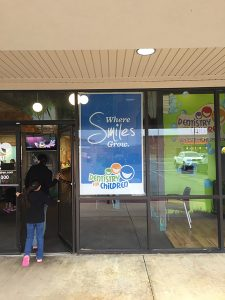 Window display posters, window advertisements