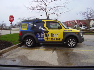 Custom Car Wrap with Window Graphics