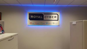 Minneapolis Lighted Signs Royal Cyber Indoor Lobby Sign Backlit 300x169