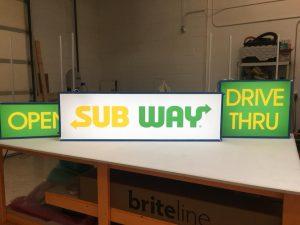 Illuminated Sign Panel Fabrication