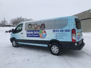 attractive custom van wrap