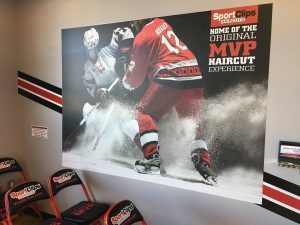 King Signs, Graphics & Imaging indoor lobby wall mural waiting room vinyl 300x225 300x225