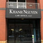 attorney panel sign for building storefront